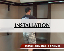 WoodTrac Closets Installation