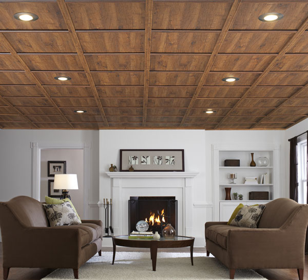 basement wood ceiling. wood ceiling systems Ceiling Gallery  WoodTrac