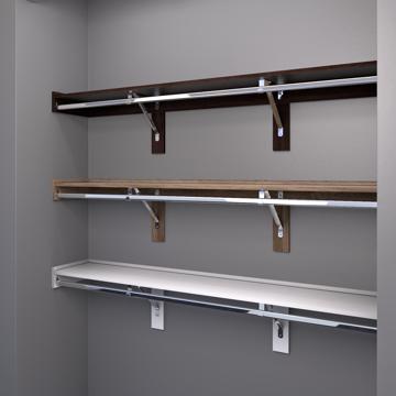 closet shelving. Unique Closet WoodTrac Closet Shelving Finishes Finishes With