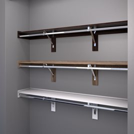 WoodTrac Closet Shelving Finishes