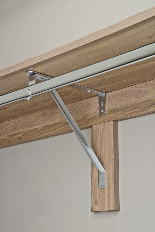 Suspended Shelf Bracket. closet shelving bracket