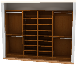 WoodTrac Closets Full Cabinets